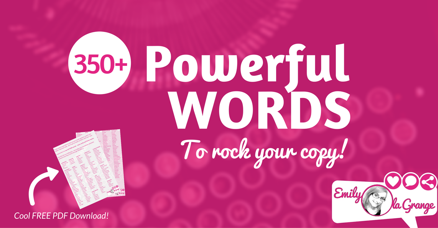 [FREE PDF] 350+ Powerful Words to ROCK your copy!