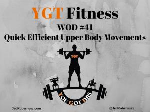 Efficient Upper Body Movements