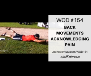 Back Movements Acknowledging Pain