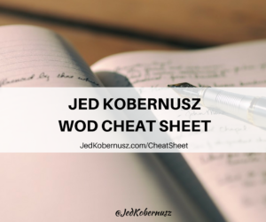 Jed Kobernusz WOD Cheat Sheet
