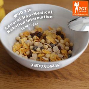 General Non Medical Nutrition Information