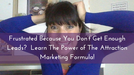 Frustrated Because You Don't Get Enough Leads- Learn The Power of The Attraction Marketing Formula!