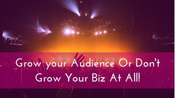 Grow your Audience Or Don't Grow Your Biz At All!-min