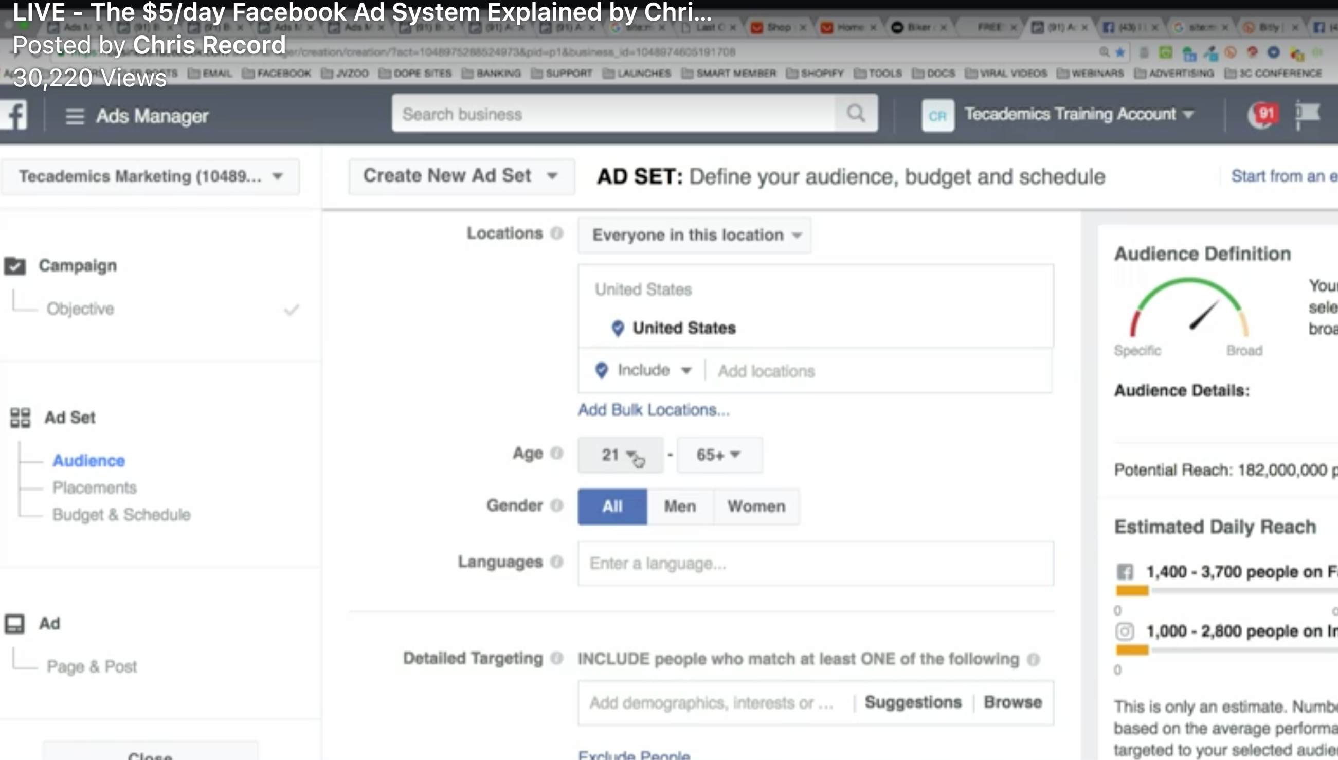 $5/day Facebook Ad System