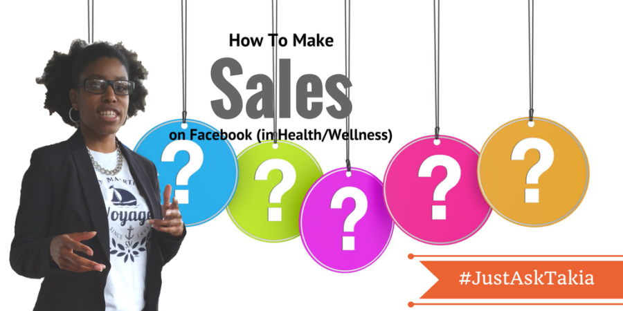 sales for your health and wellness business from Facebook