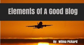 Elements Of A Good Blog