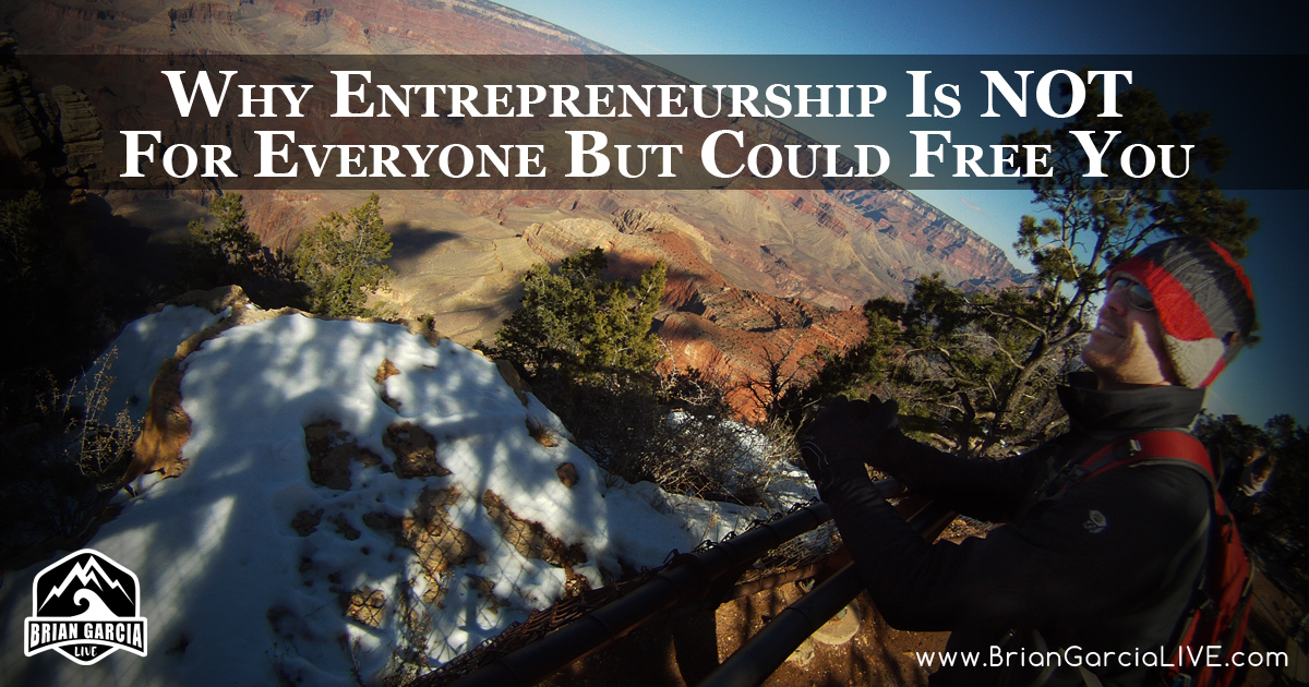 Why Entrepreneurship Is NOT For Everyone But Could Free You