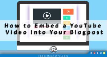 Embeding a YouTube Video