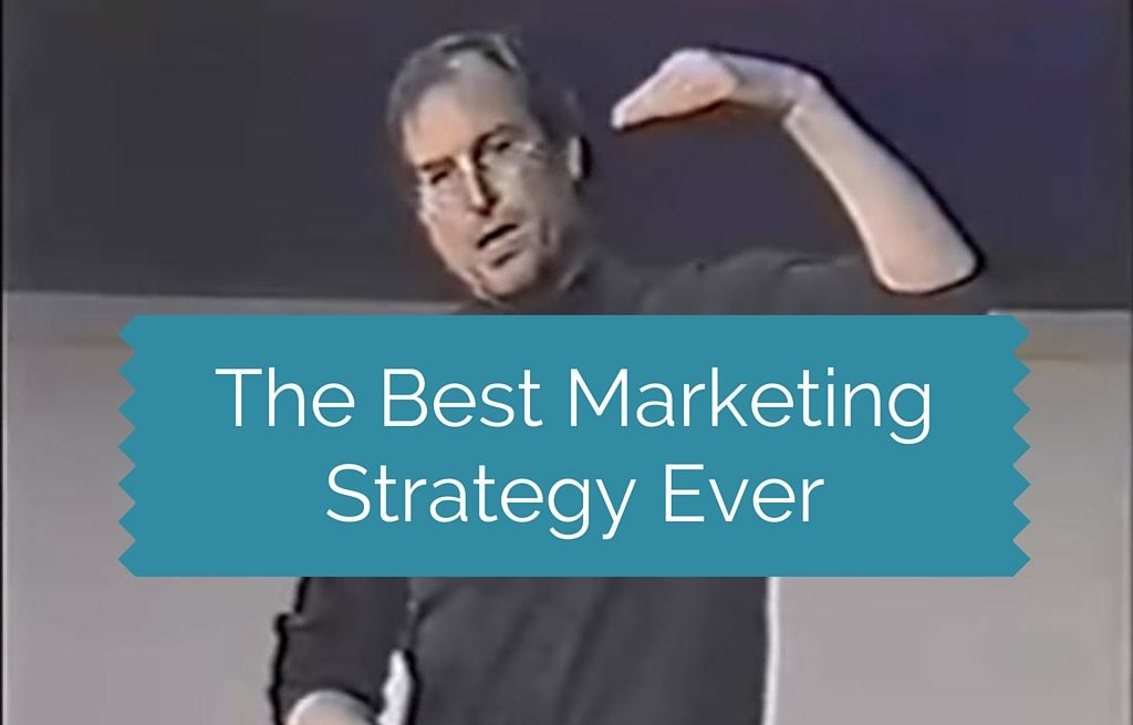 The Best Marketing Strategy Ever By Steve Jobs