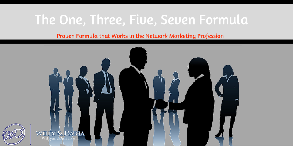 One, Three, Five, Seven Network Marketing Formula