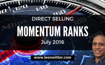 Direct Selling Momentum Ranks July 2016