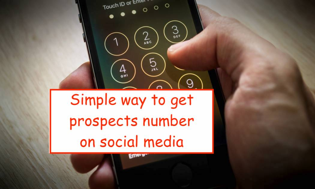 Social media prospecting tip to get your prospects phone number