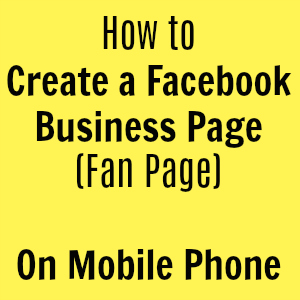 how to create facebook page on mobile phone 300x300