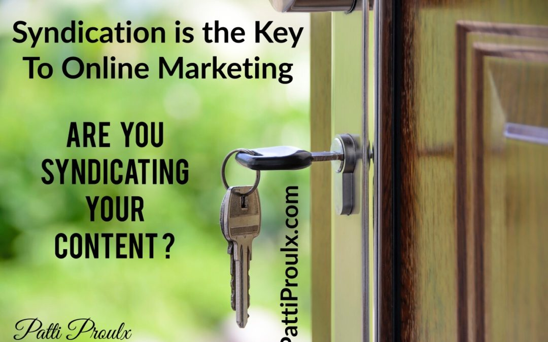 Syndication Is The Key To Online Marketing