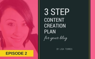 [EPISODE 2] 3-Step Content Creation Strategy Plan For Your Blog