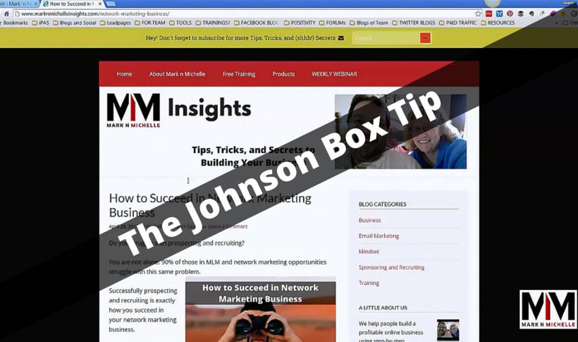 Internet Marketing Blog Tip   The Johnson Box