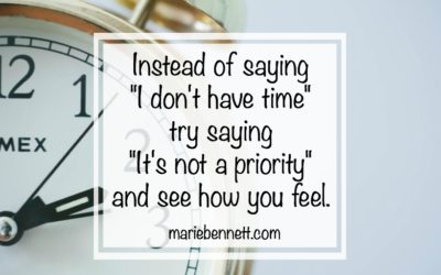 I don't have time…