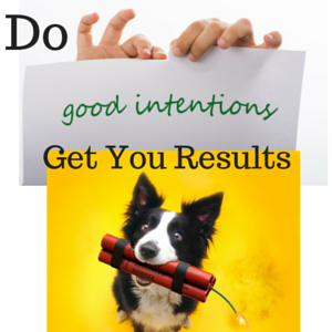 Do Good Intentions Get You Results