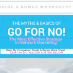 Go For No- The Most Effective Prospecting Strategy in Network Marketing +FREE DOWNLOAD