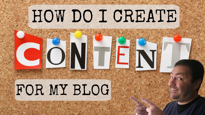 How do I create content for my blog!