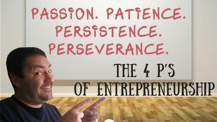 The 4 P's of Entrepreneurship