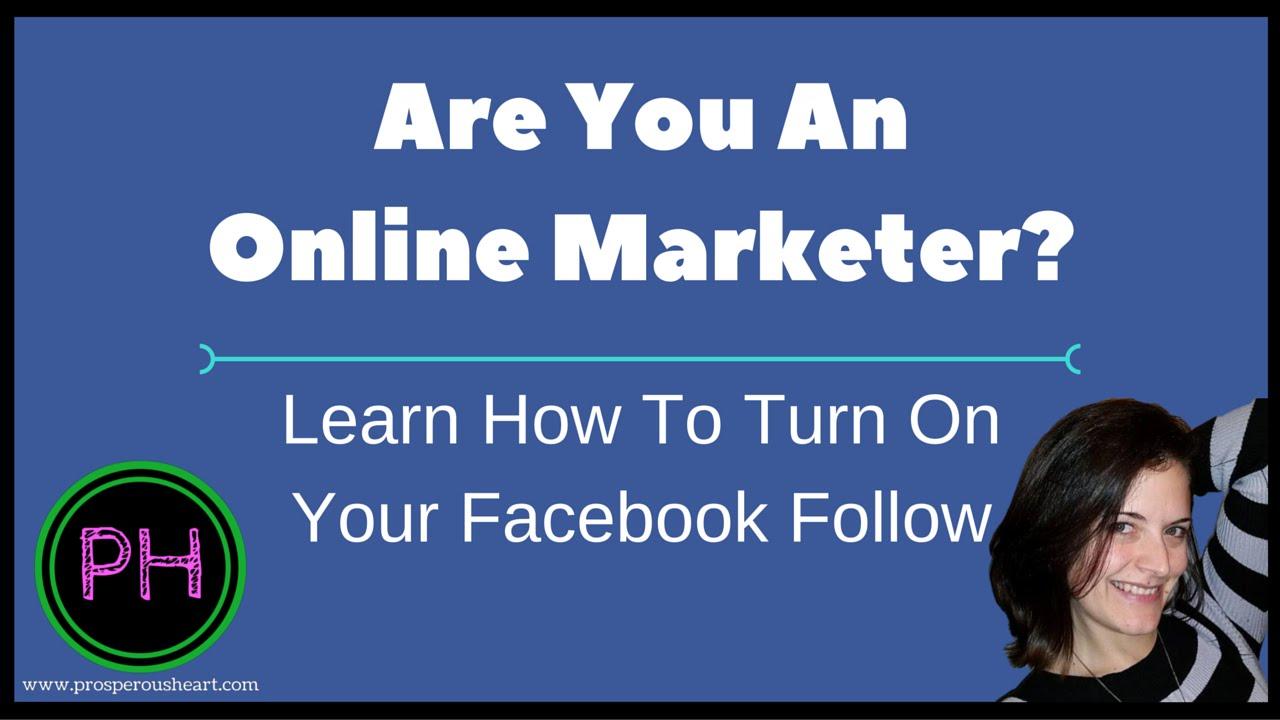 How Do I Turn On Facebook Follow?
