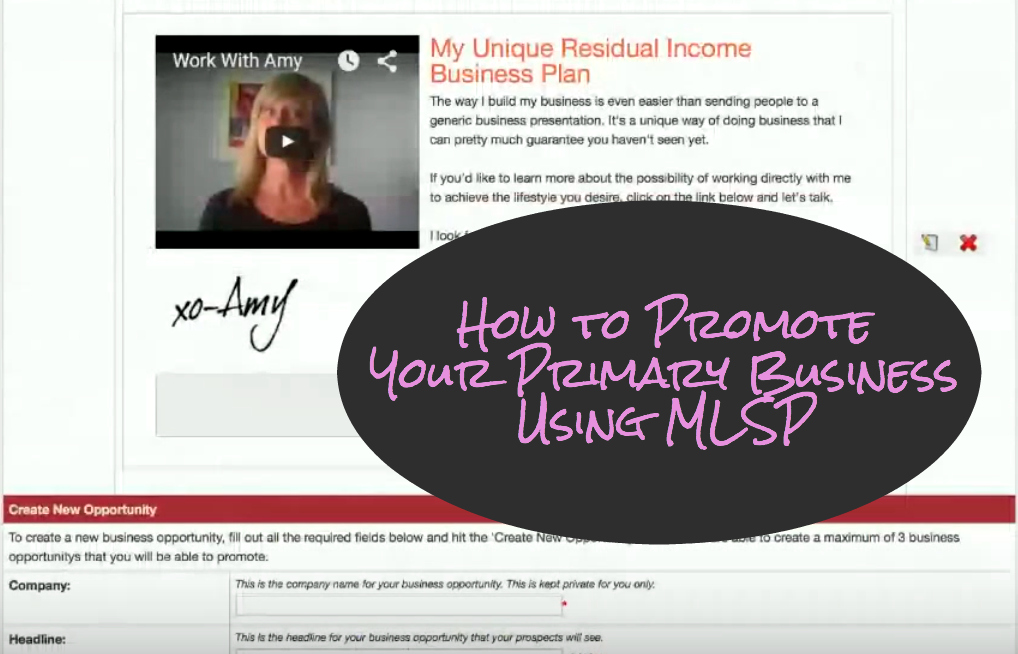 How to Promote Your Primary Business Using MLSP