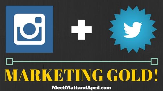 Instagram + Twitter = Marketing Gold