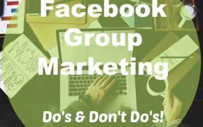 """""""Facebook Group Marketing"""" Basics"""