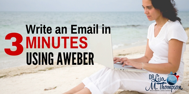 How to Write an Email in 3 Minutes Using Aweber