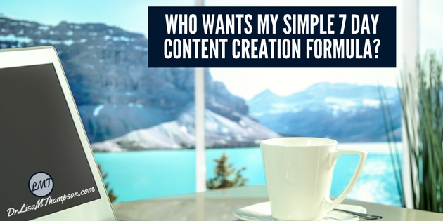 Who Wants My Simple 7 Day Content Creation Formula?