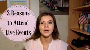 3 Reasons Why You Should Attend Live Events