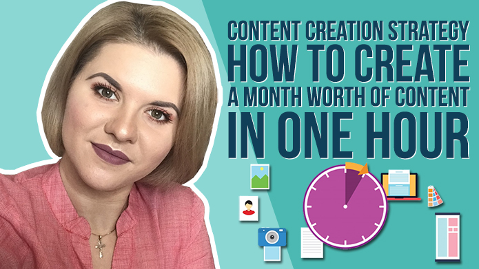 Content Creation Strategy – How to Create a Month Worth of Content in an Hour