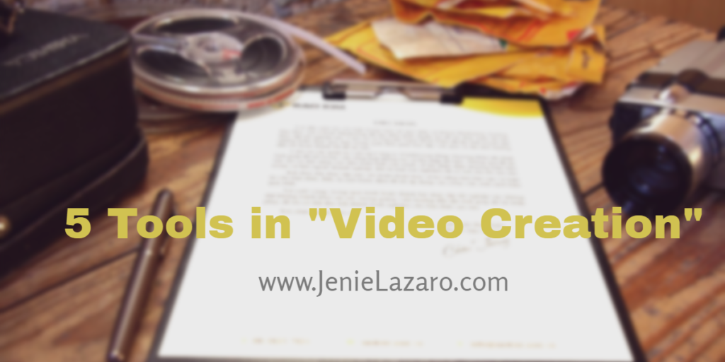 5 Tools In Video Creation