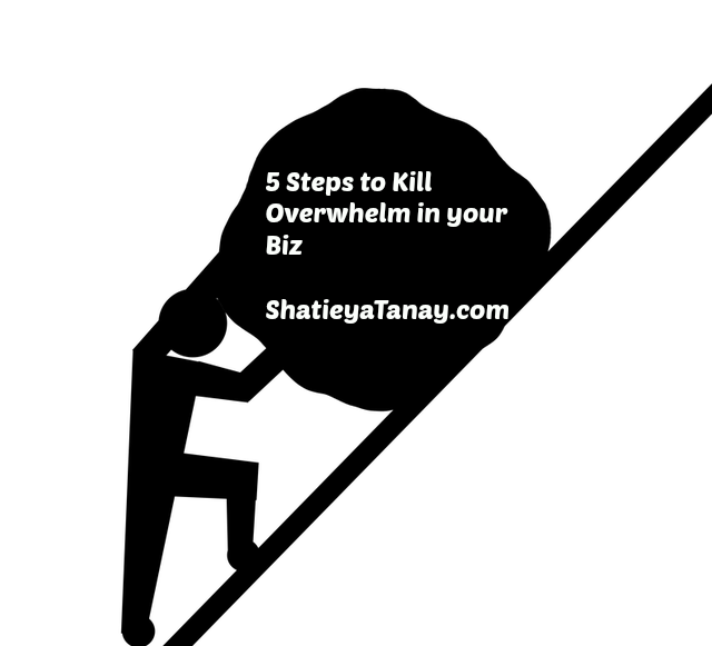 5 Steps to Kill Overwhelm in your Biz