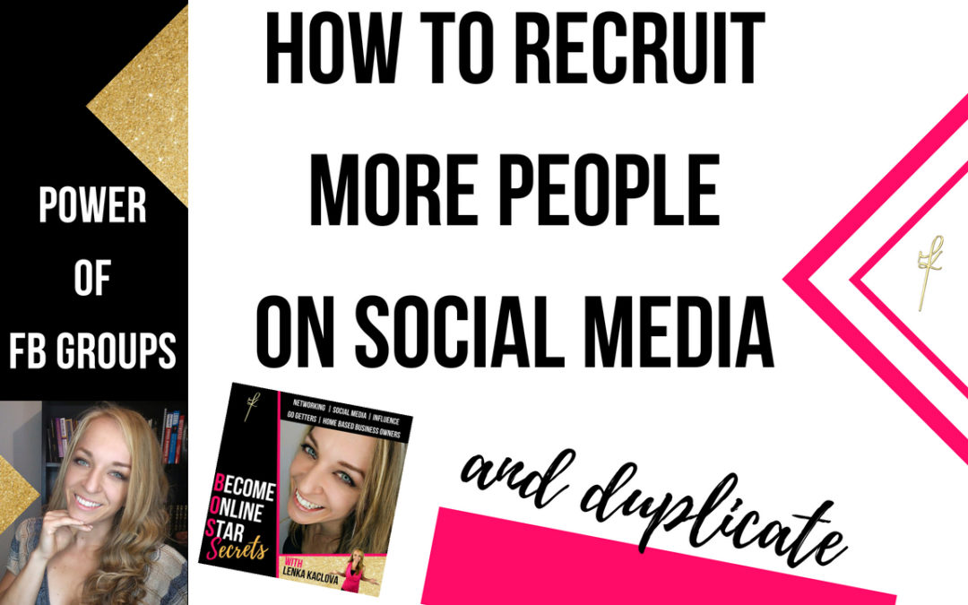 Recruit more people on social media