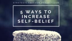 ways to increase self-belief
