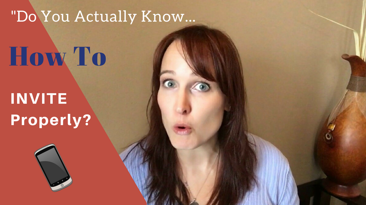"""Network Marketing: Do you actually know how to invite properly?"""