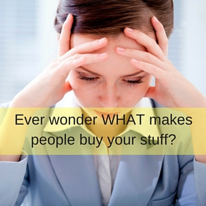 Ever wonder WHAT makes people buy your stuff-