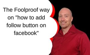 how to add follow button on facebook