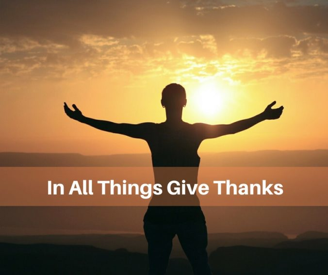 In All Things Give Thanks Robert Bob Stafford