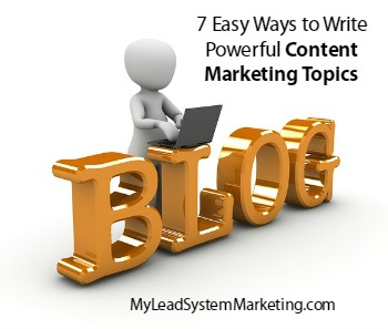 Simple Content Marketing Topics Ideas