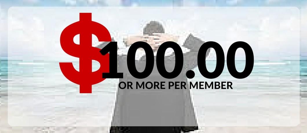 $100.00 Per Member Sign-Up