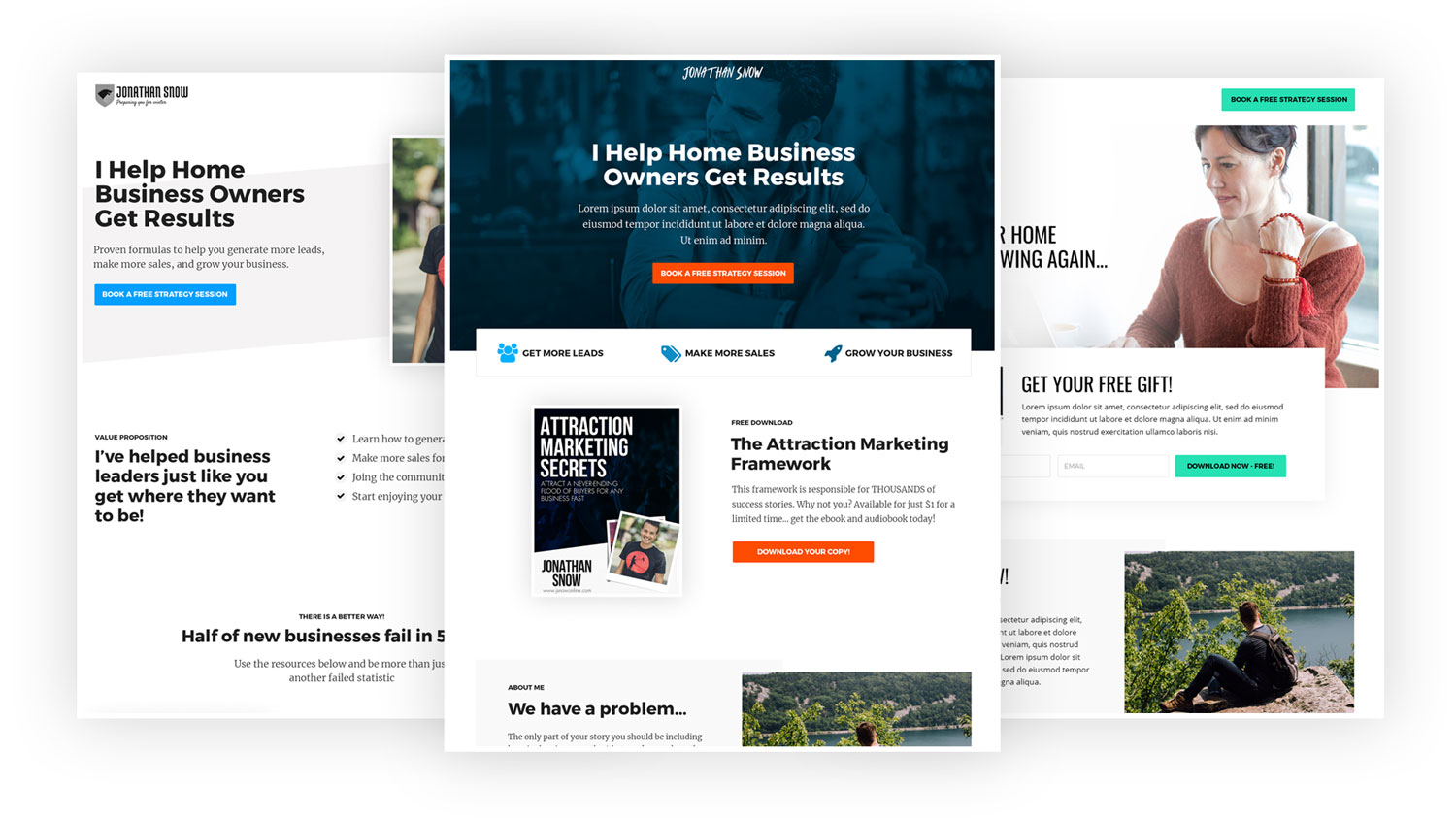Funnelizer Homepage Hub Examples