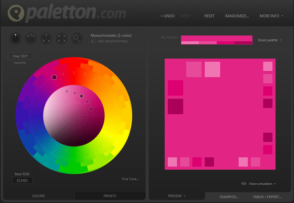 #EmilysTIPS: A great place to choose #colours is colour scheme designer @PalettonCom