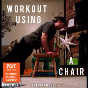 Workout using a chair