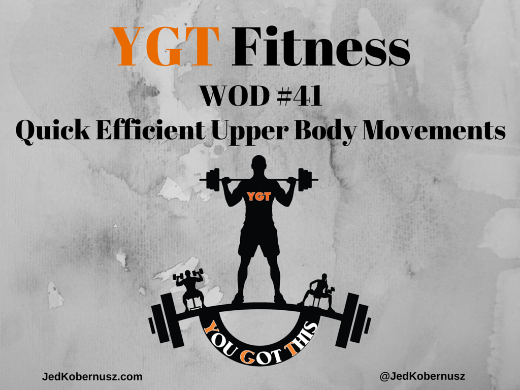 Quick Efficient Upper Body Movements
