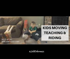 Kids Moving Teaching Riding