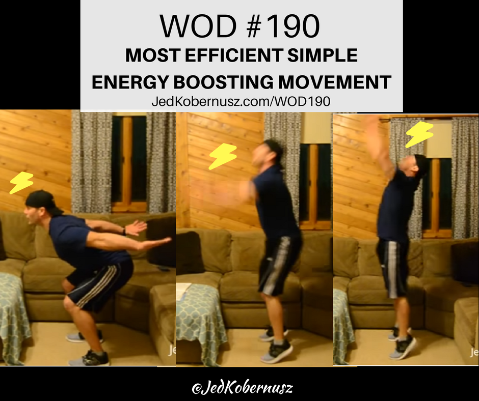 most efficient simple energy boosting movement