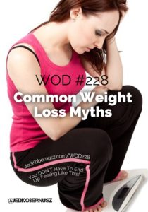Common Weight Loss Myths